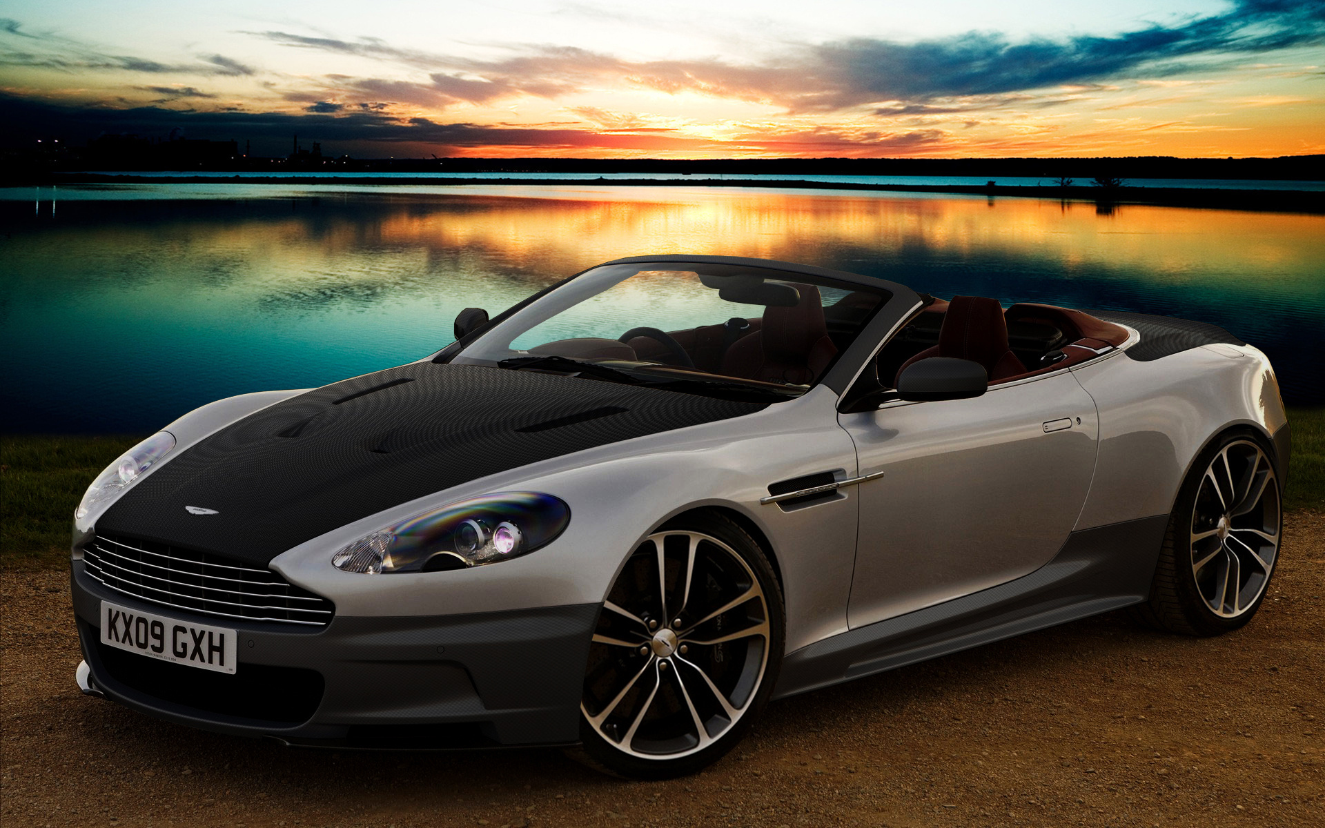 Aston Martin Sunset Photography Wallpaper
