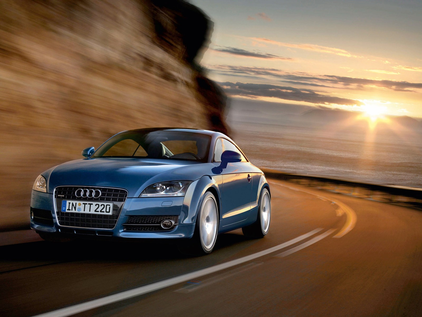 Audi Blue Wallpaper HD Sport Cars
