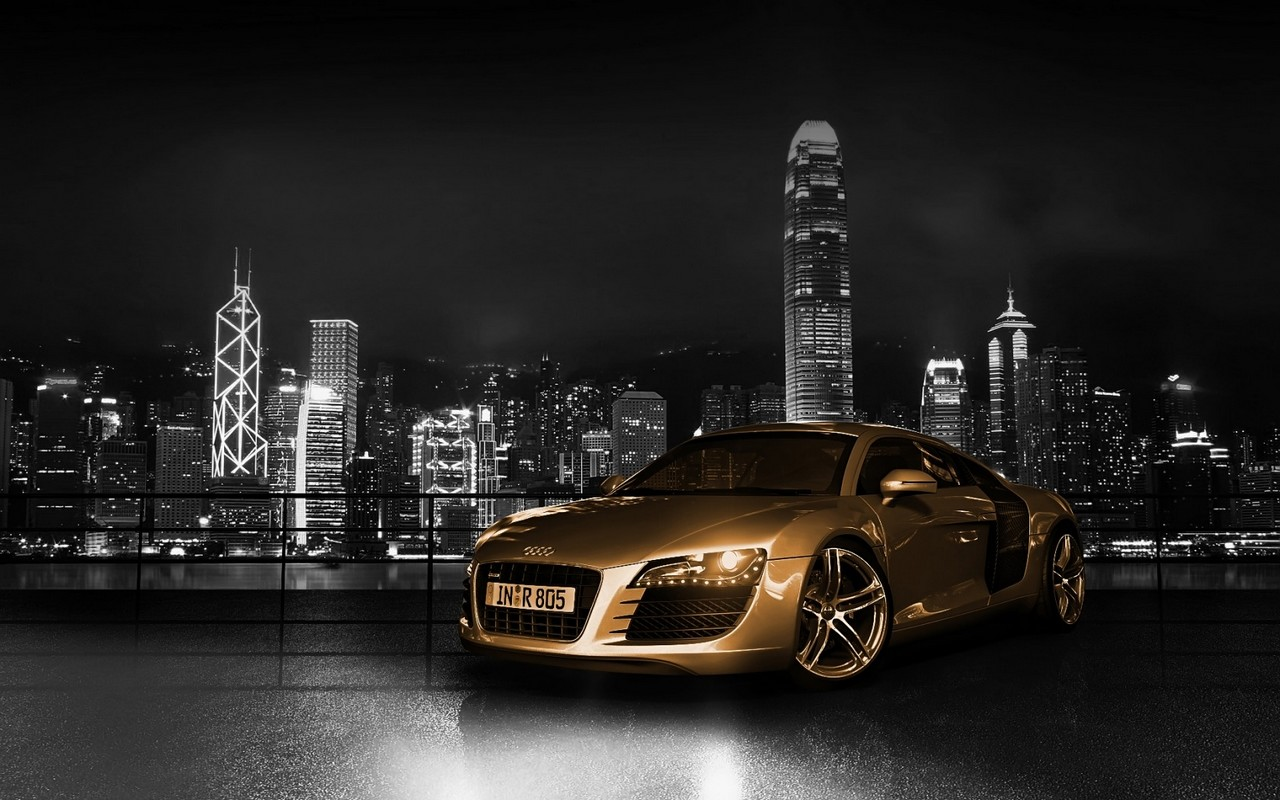 Gold Audi Wallpaper Fullscreen HD