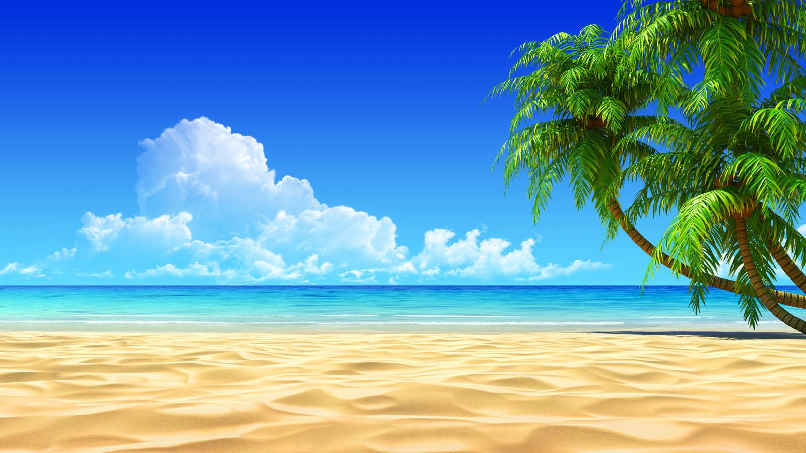 Beach 3D Wallpaper Sand