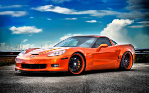 Chevrolet Corvette Z06 Wallpaper Orange HD