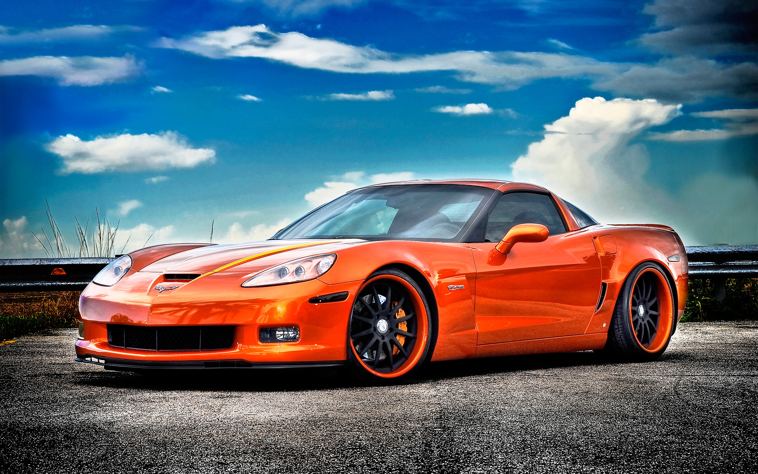 Chevrolet Corvette Z06 Wallpaper Orange HD 102 Wallpaper