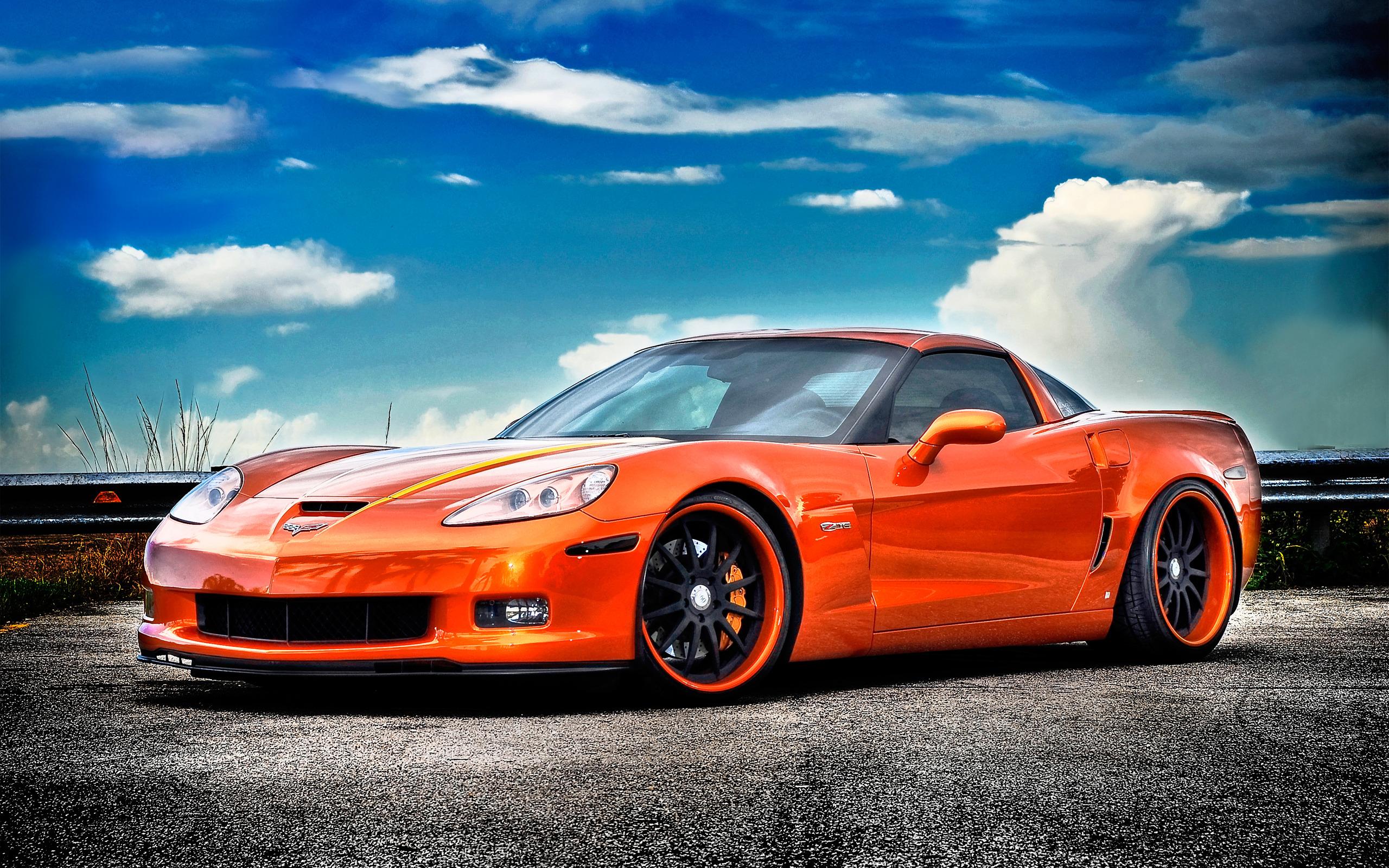 Chevrolet Corvette Z06 Wallpaper Orange HD