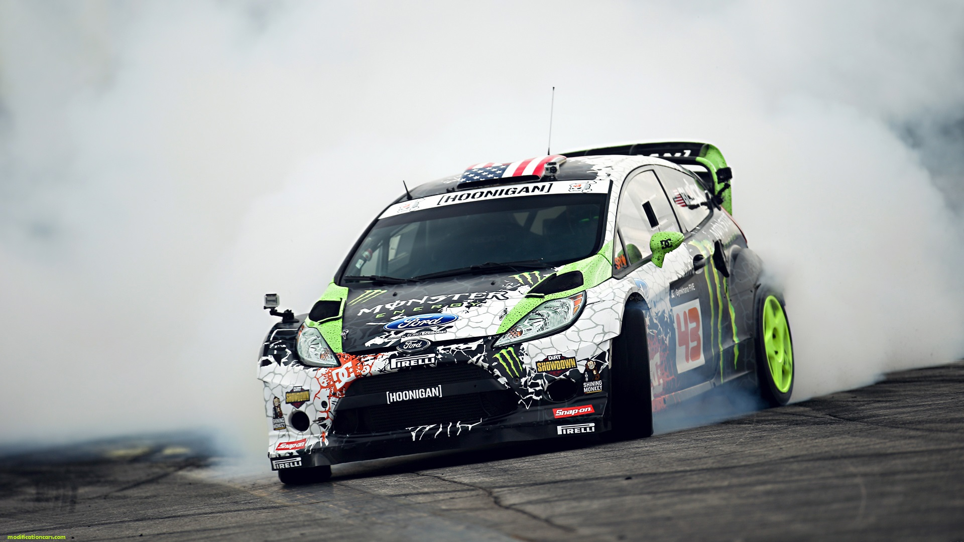 Ford Fiesta Smoke Burn Modification Wallpaper