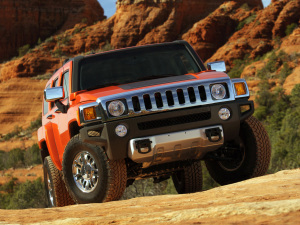 Hummer Wallpaper Orange Cars
