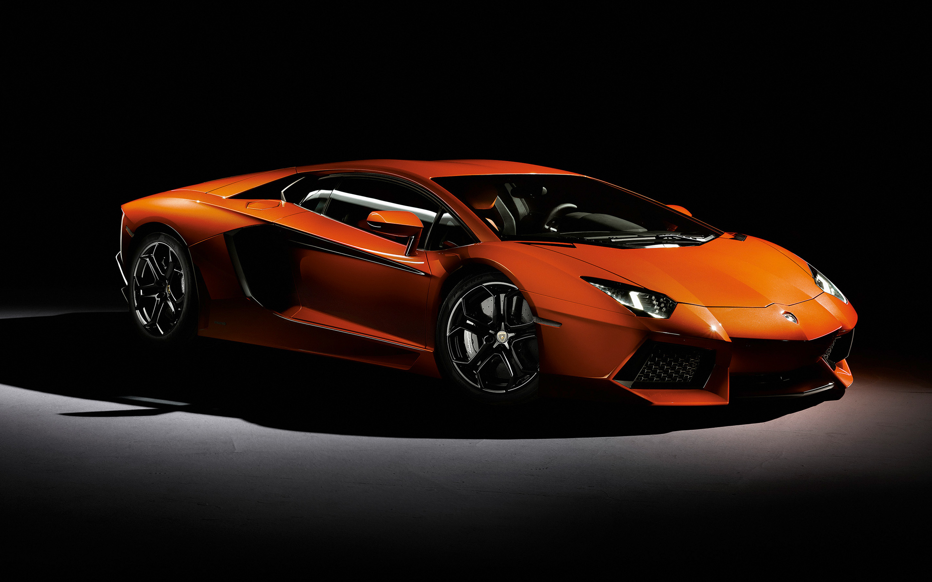 Lamborghini Aventador Orange Wallpaper