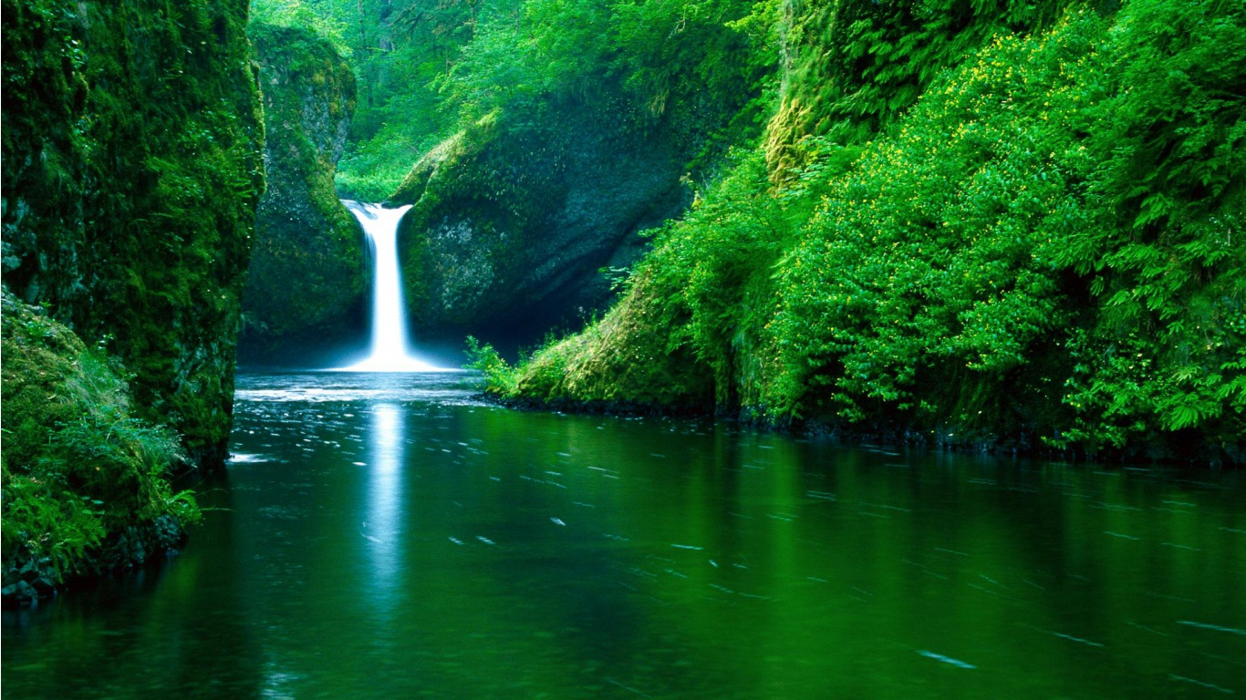 Landscape Water 3D Wallpaper 1366X768 #1796 Wallpaper ...