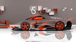 Neon Lamborghini Wallpaper Egoista 3D