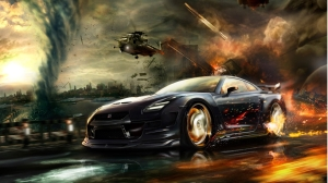 Nissan GTR In Games Wallpaper