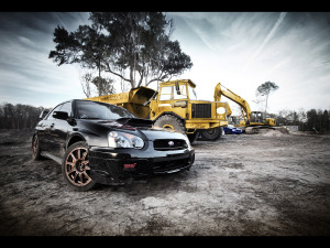 Subaru Wallpaper Black Cars