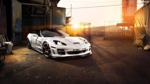 White Corvette Wallpaper HD