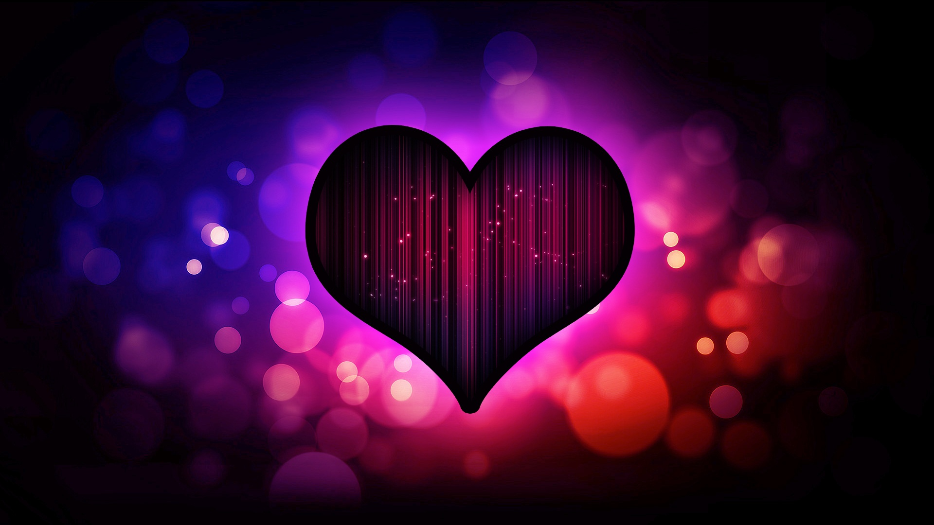 Abstract Love Heart Backgrounds