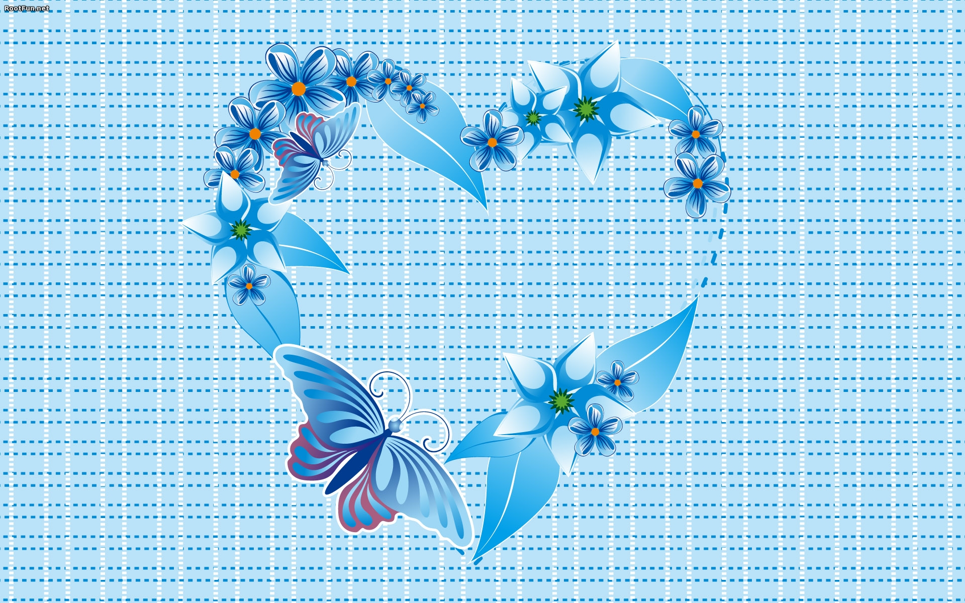 Abstract Love Wallpaper Android Blue
