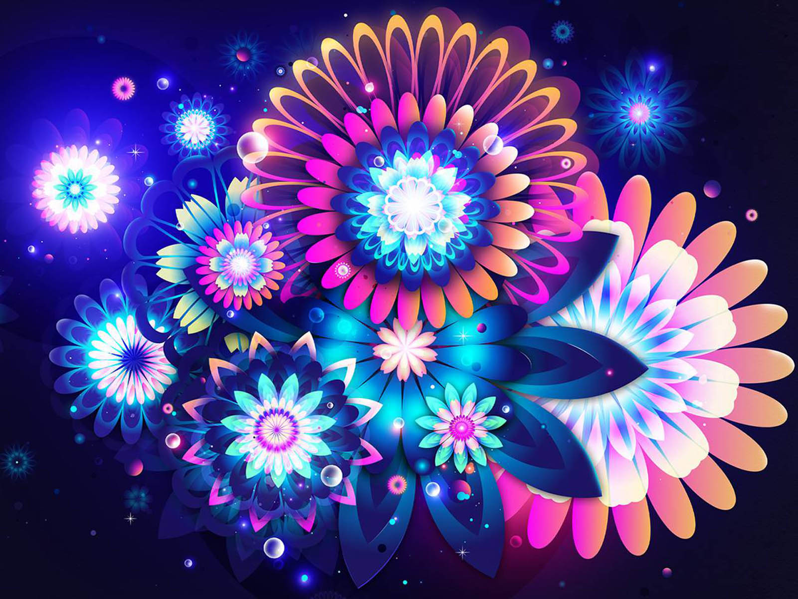 Abstract Wallpaper Flowers Beautiful
