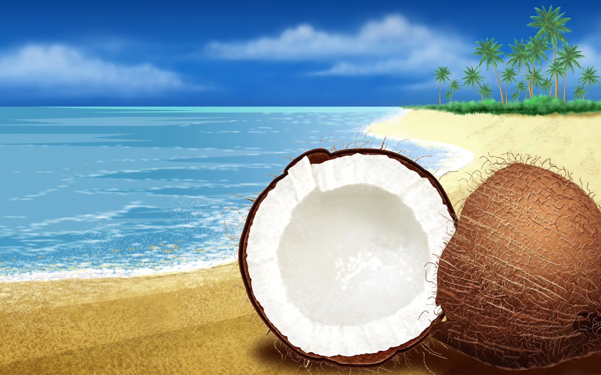 Beach Background HD Desktop