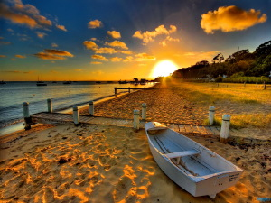 Beach Sunset Wallpaper High Definition