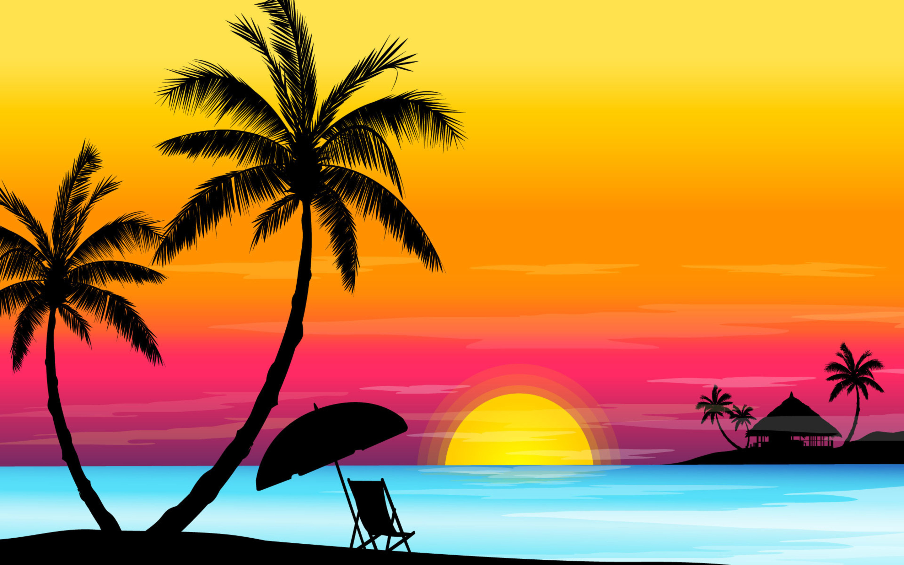 Beach Sunset Wallpaper High Resolution