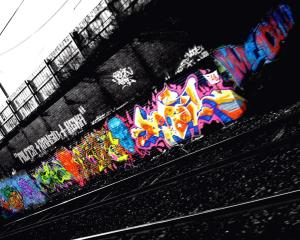 Black Graffiti Wallpaper Android