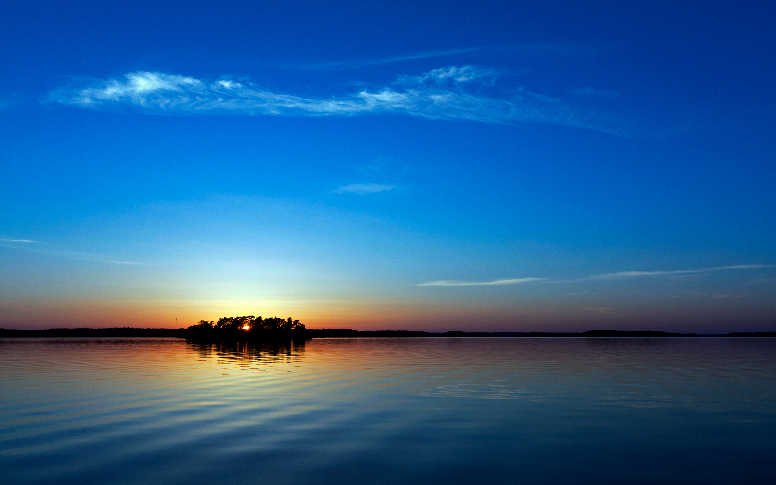 Blue Sunset Wallpaper Widescreen