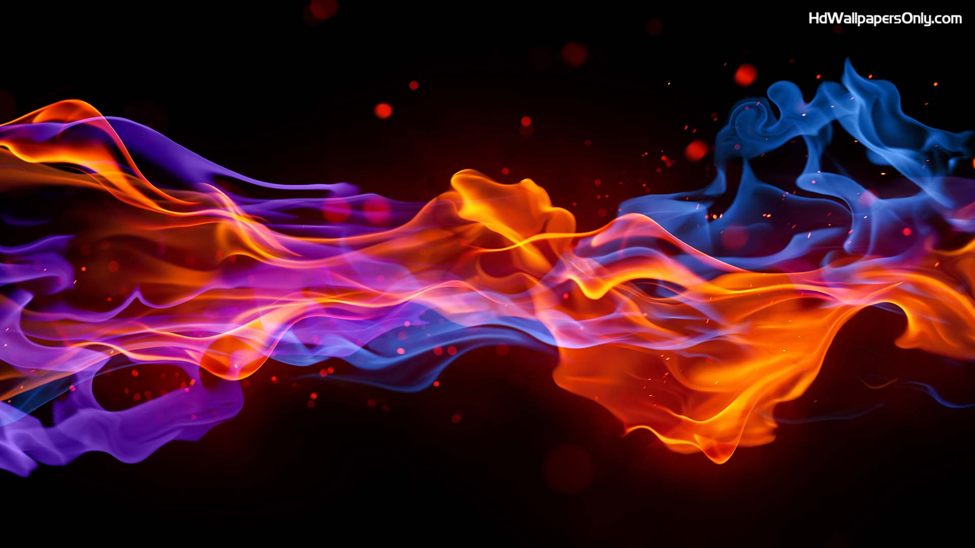 Computer Fire Wallpaper Desktop