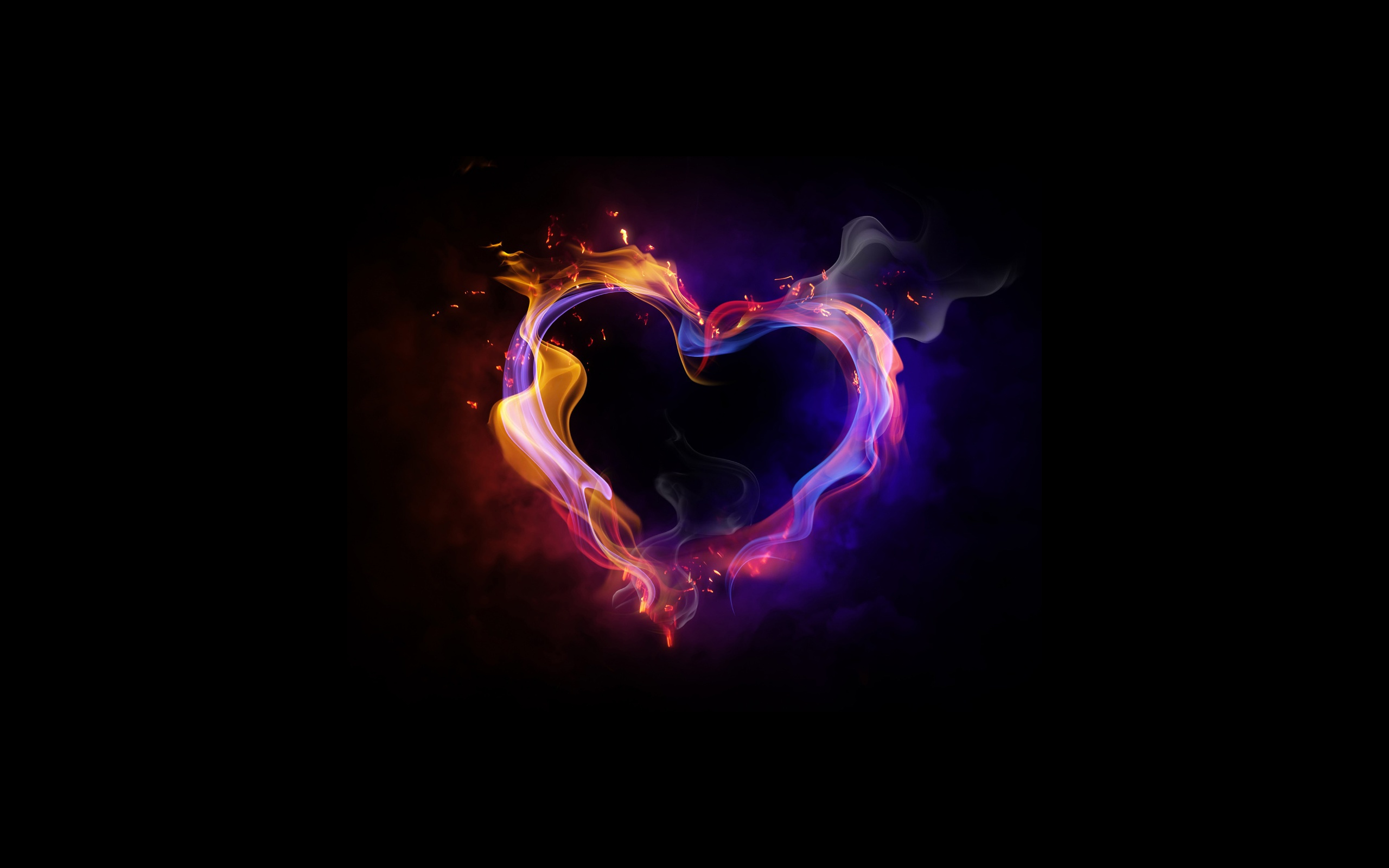 Fire Heart Wallpaper Background