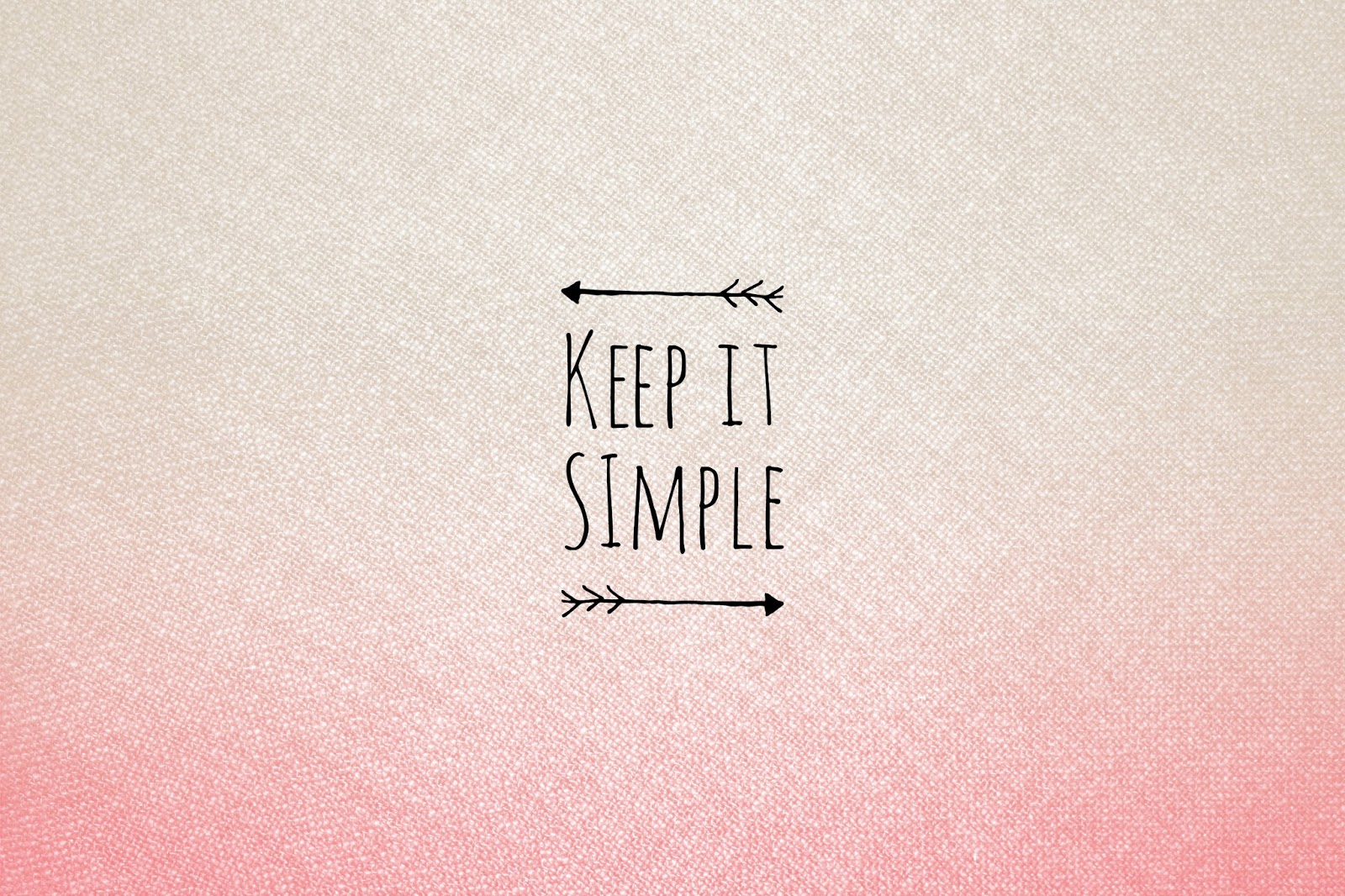 Keep Smile Wallpaper White Simple
