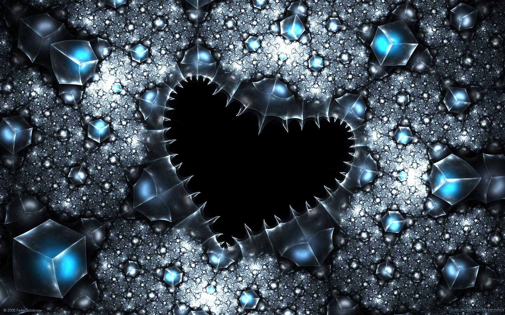 Love Heart Abstract Wallpaper