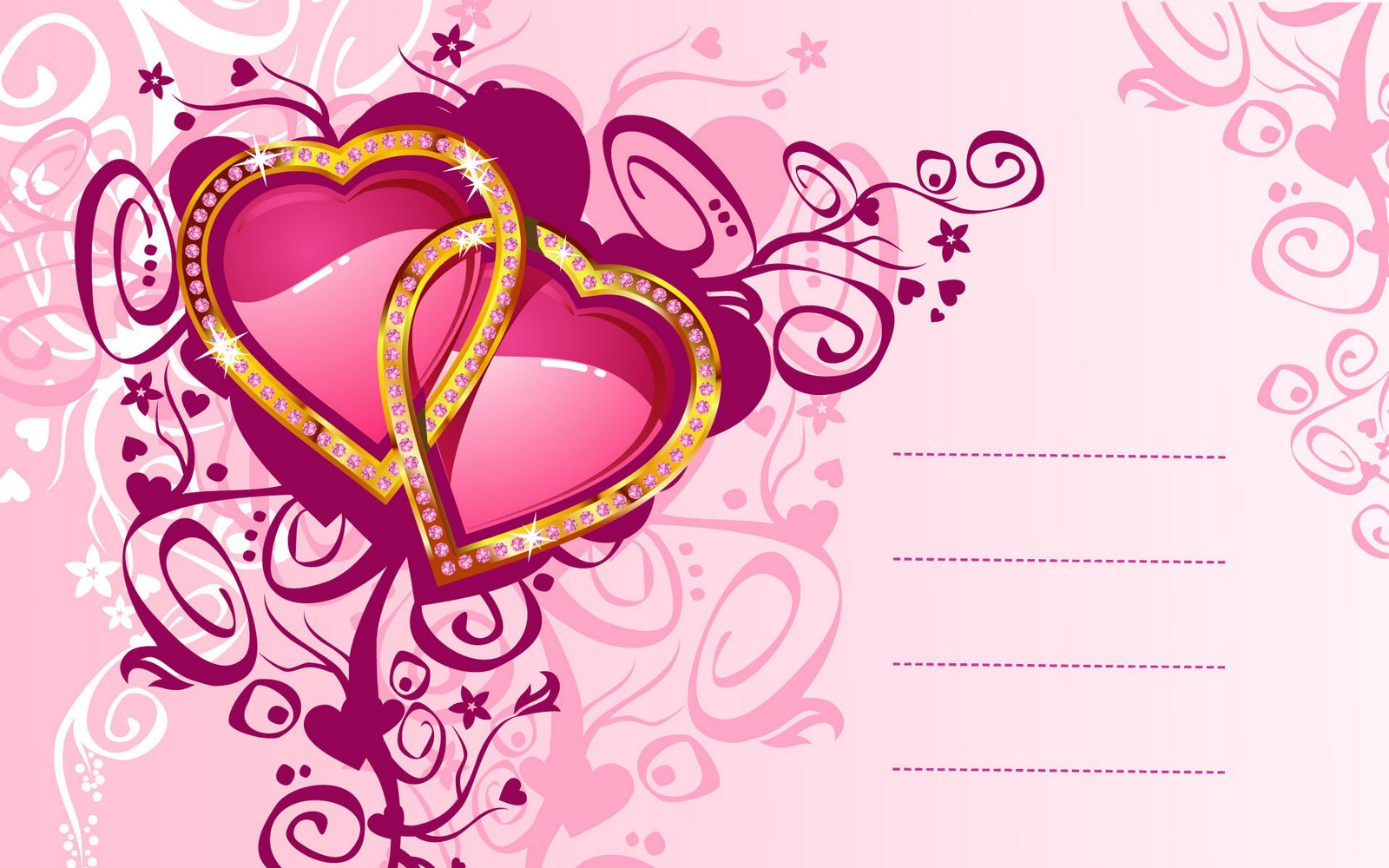 Love Pink Wallpaper Heart Quotes