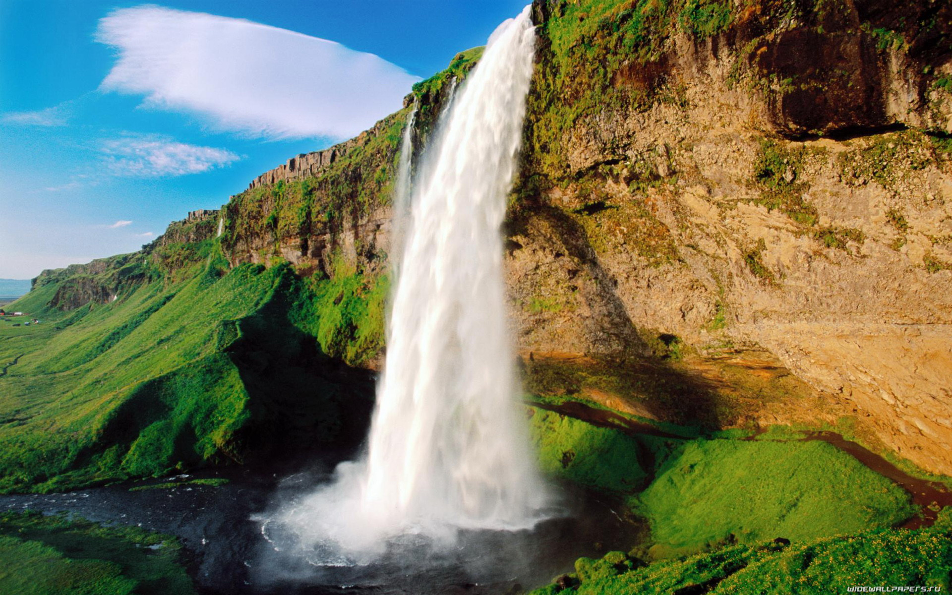 Mountain Waterfall Nature Wallpapers