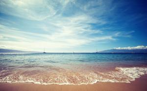 Ocean Beach Sky Wallpaper Landscape