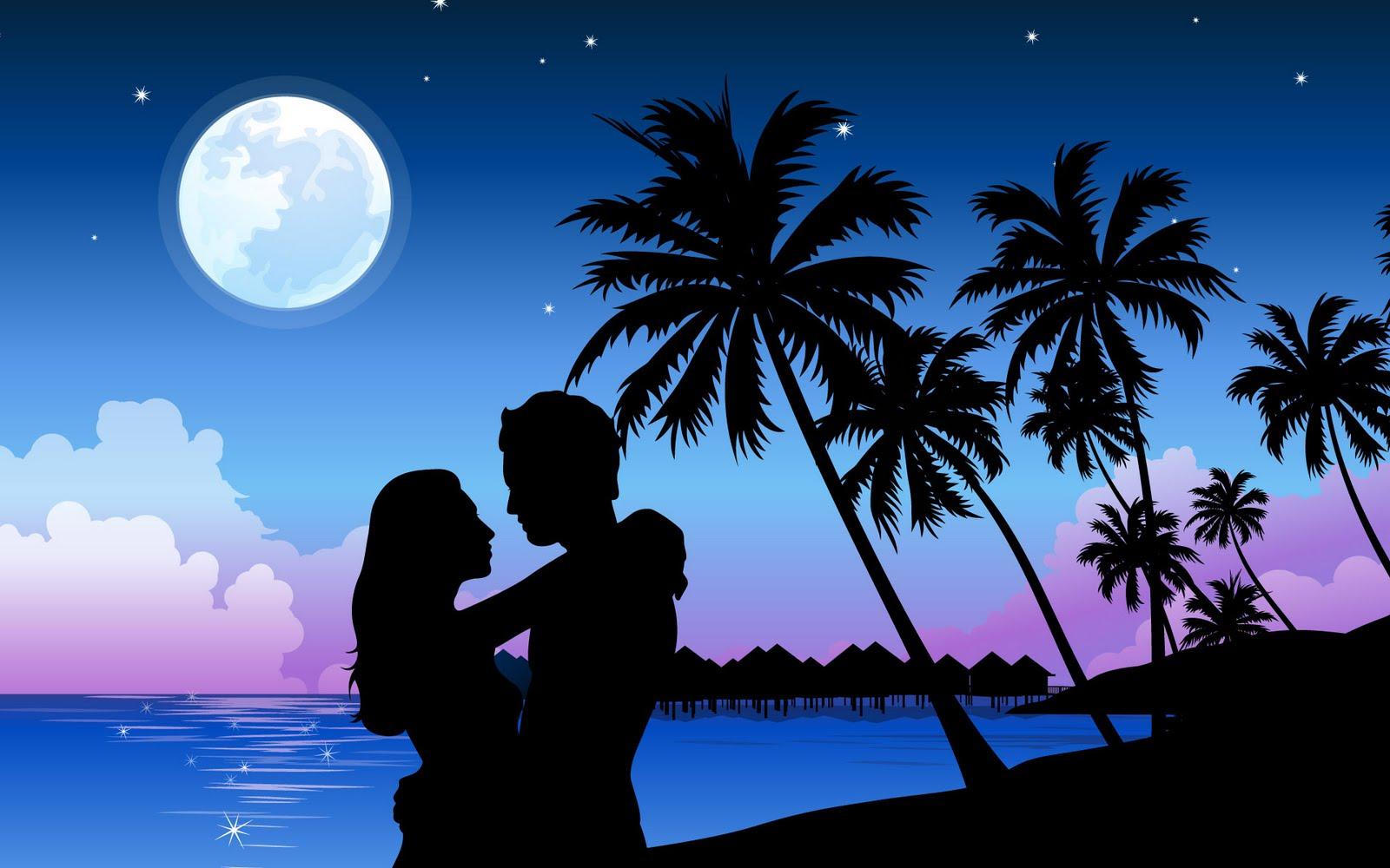 Romantic Wallpaper In The Beach