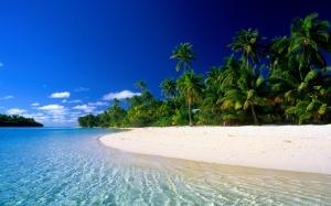 White Sand Beach Wallpaper HD Free Download