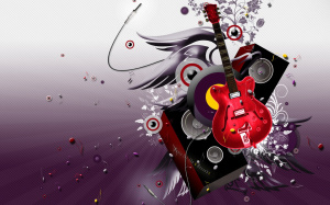 3D Abstract Wallpaper Guitar HD