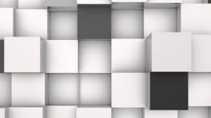 3D White Wallpaper Image Desktop