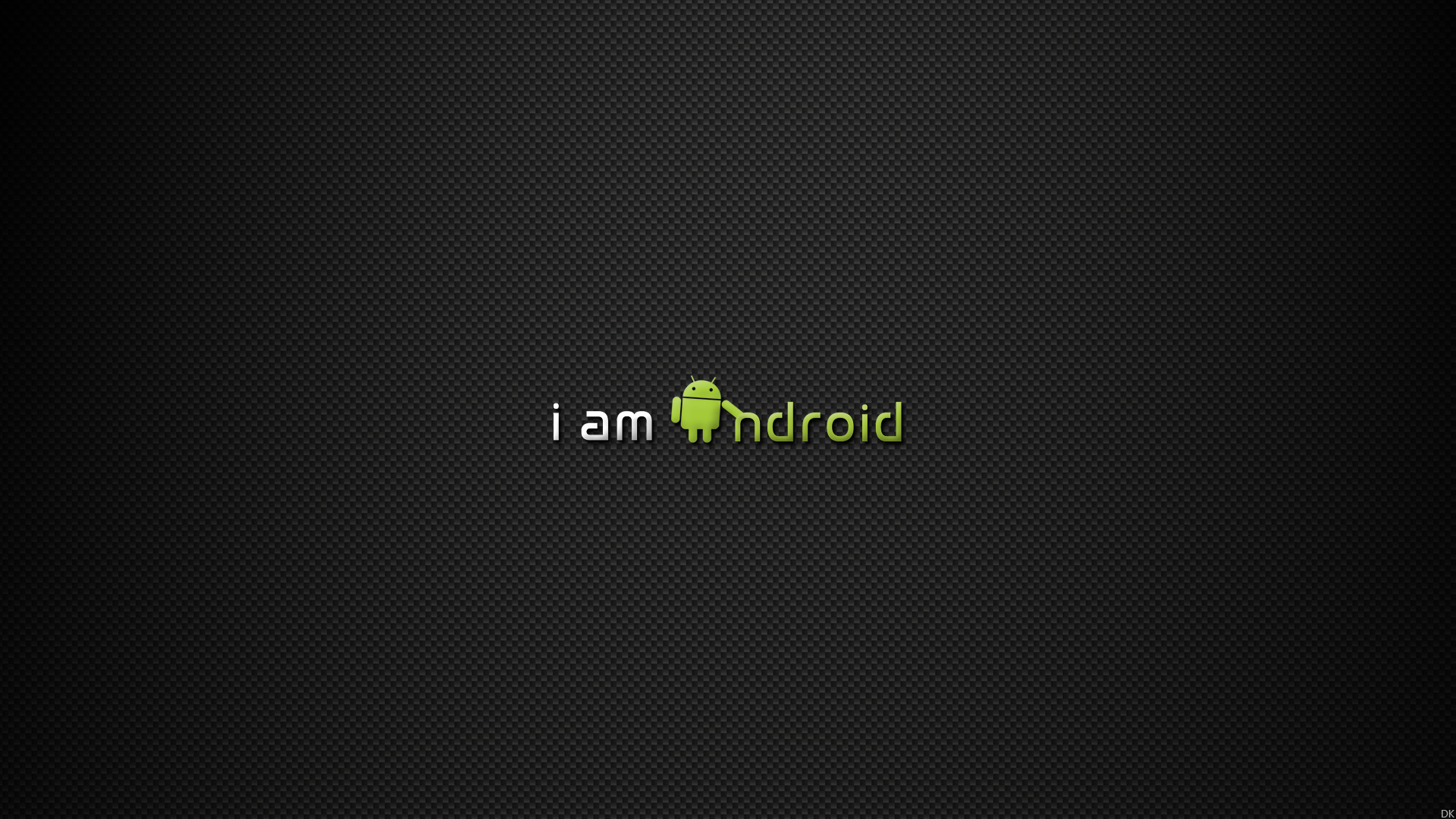 Android Logo Black Background