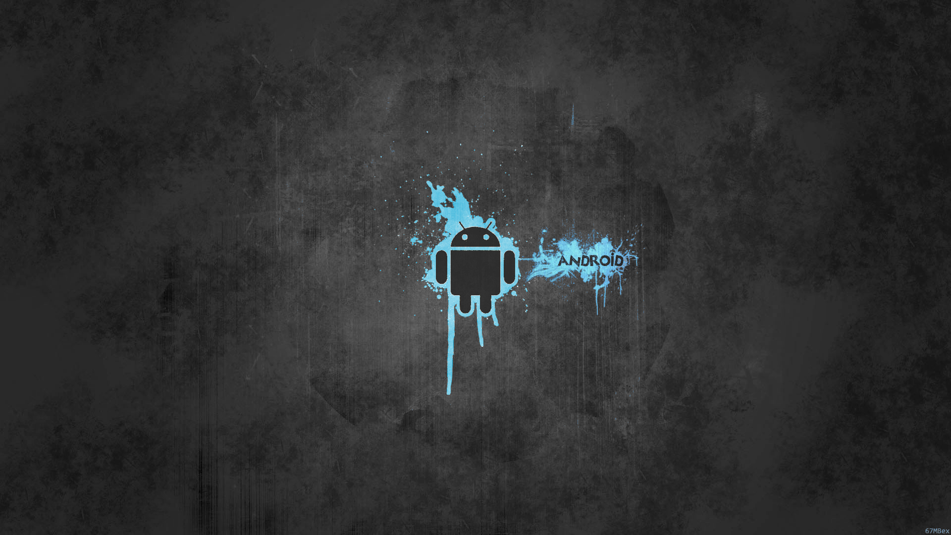 Android Wallpaper Blue Abstract
