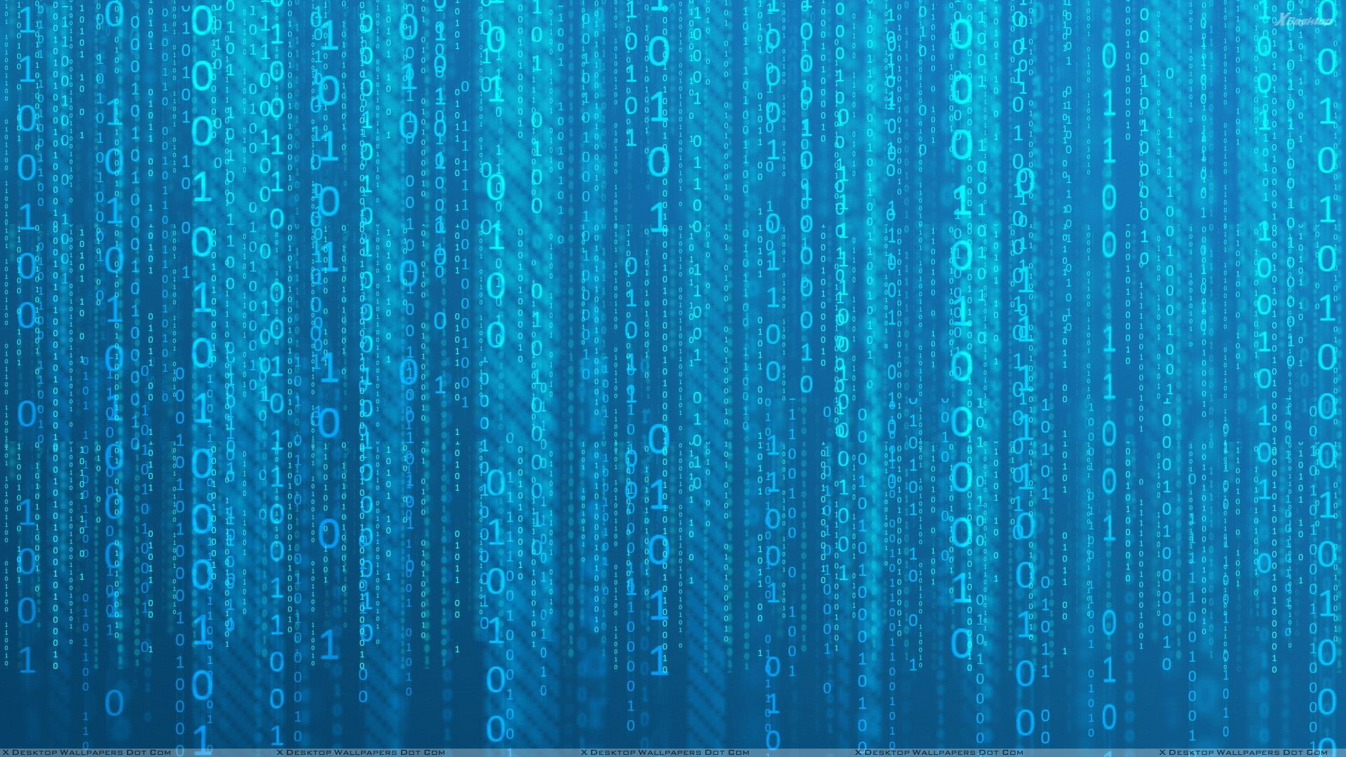 Binary Technology Wallpaper Blue Background