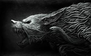 Black Wallpaper Animals Art