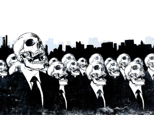 Crowded Skull Wallpaper HD