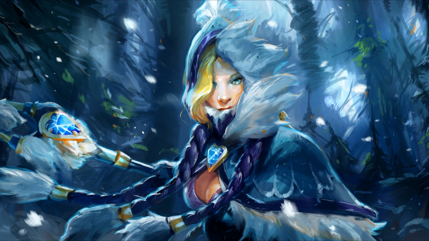 Dota 2 Maiden 1366×768 Wallpaper