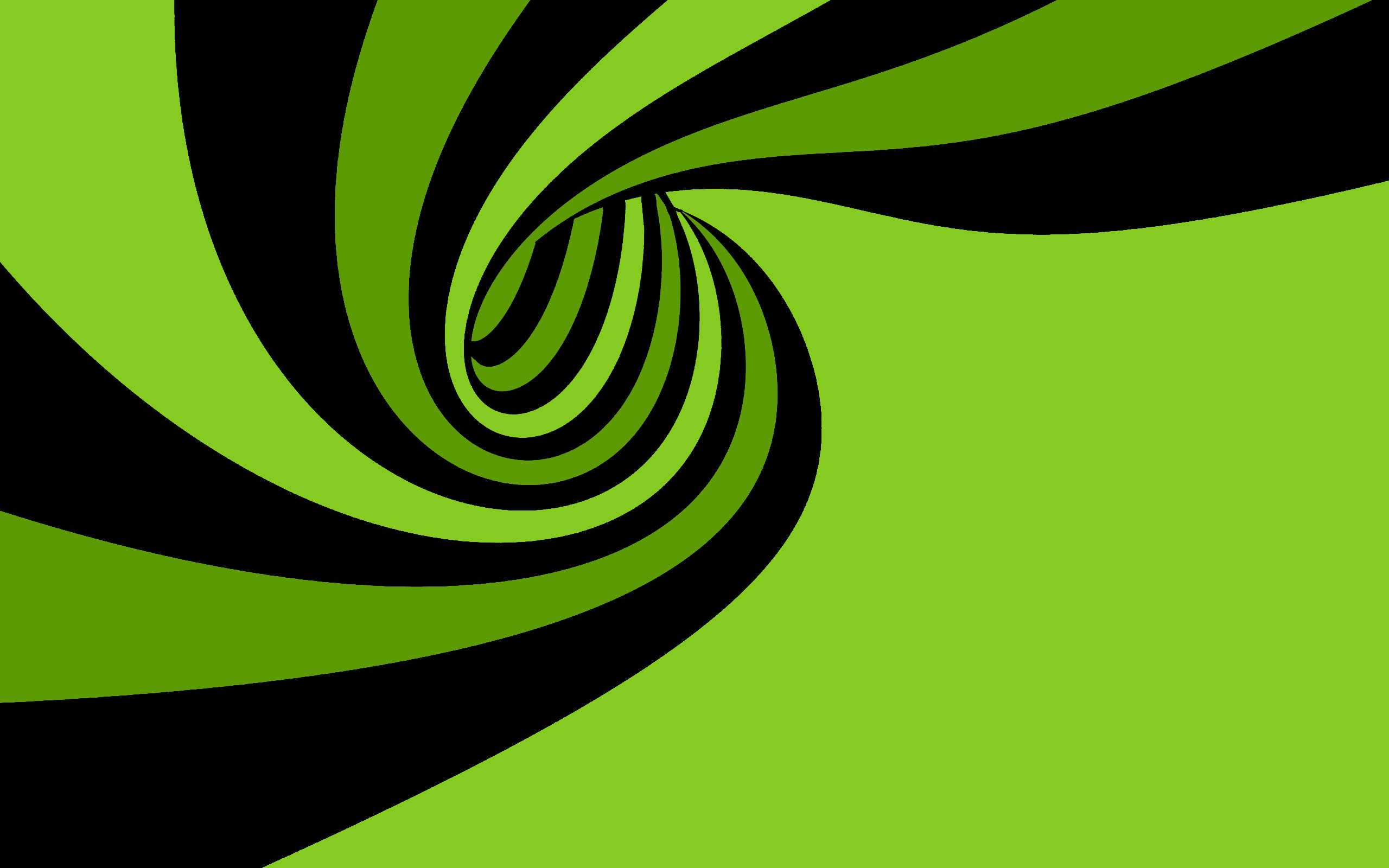 Green Spiral Wallpaper 2560×1600
