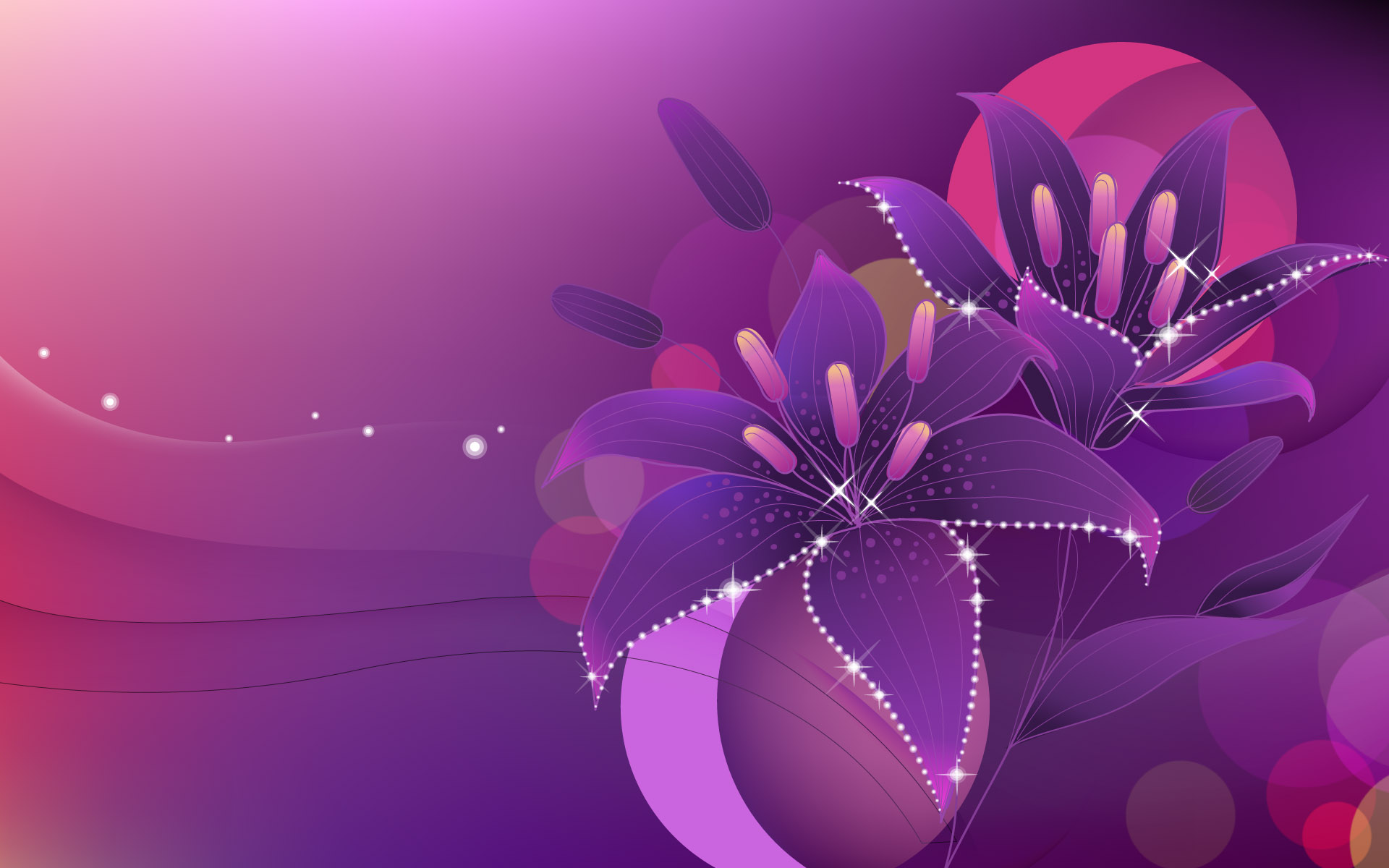 Purple Abstract Design 1920X1200