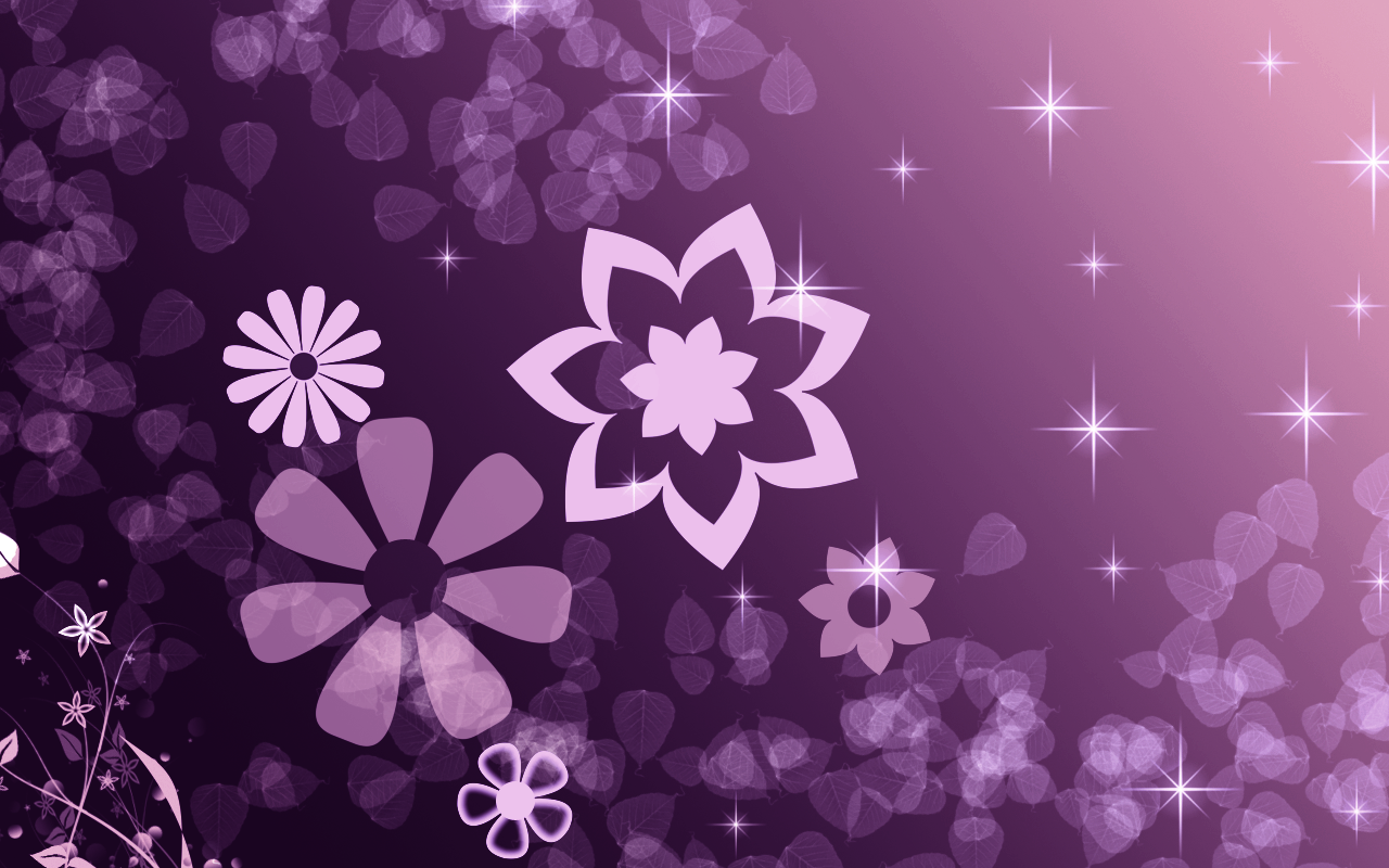 Purple Star Wallpaper Desktop