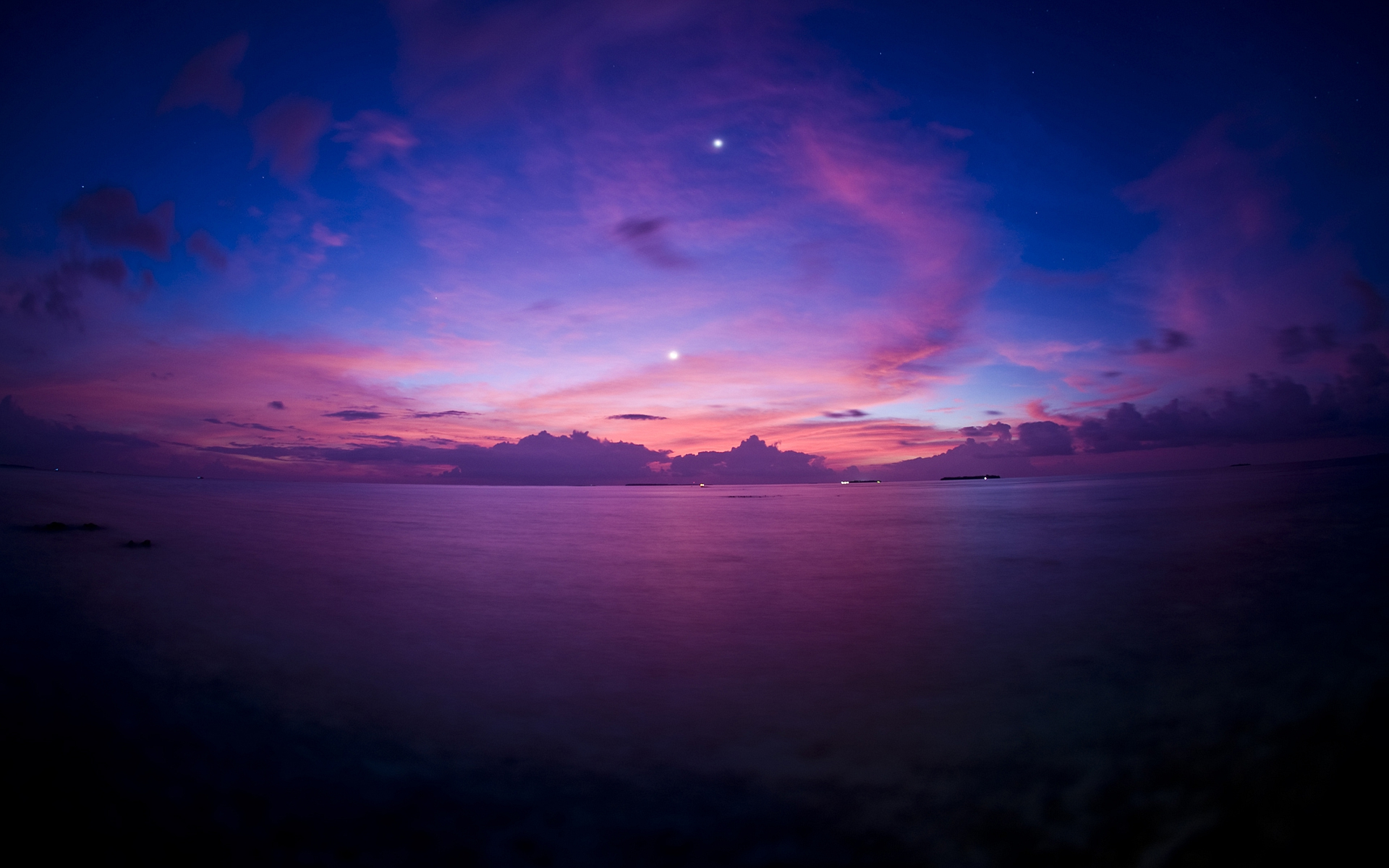 Purple Sunset Wallpaper Fantasy