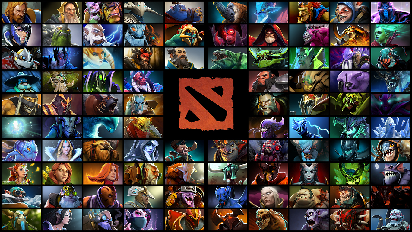 Radiant Vs Dire Dota Wallpaper 1366×768