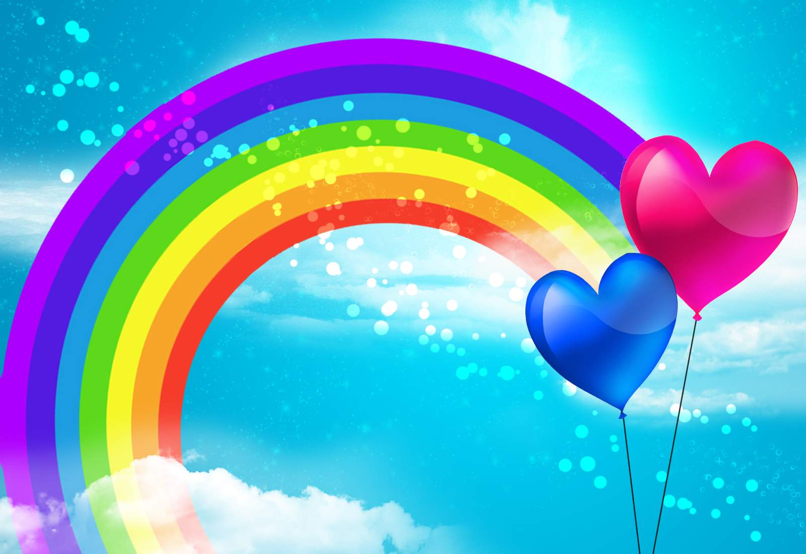 Rainbow Wallpaper Baloons