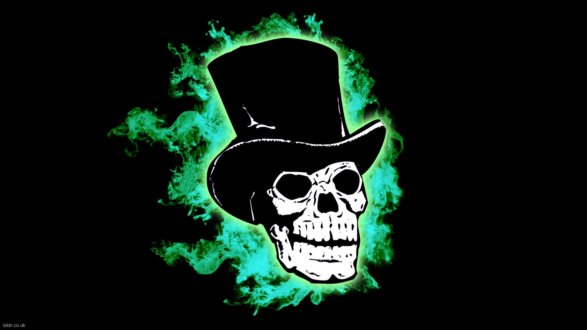Skull Green Wallpaper Widescreen