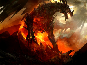 Volcanic Dragon Wallpaper Tablet