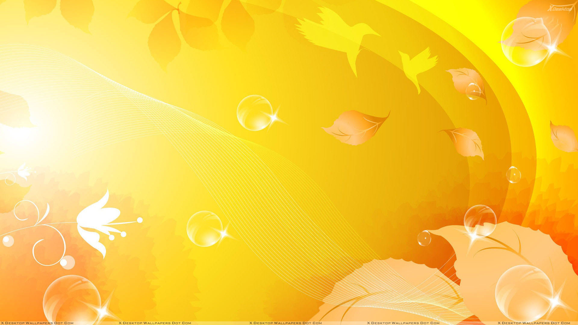 Yellow Background Windows HD