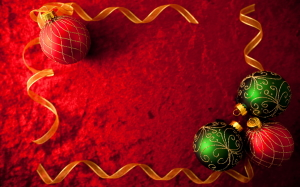 3D Christmas Decoration Wallpaper
